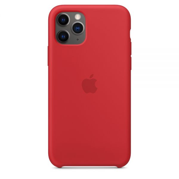 Силиконовый чехол Apple iPhone 11 Pro Silicone Case OEM Red - Фото 1
