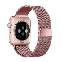 Ремешок Apple Watch 38/40/42/44mm with Milanese Loop (magnetic) Rose Pink, Цена: 481 грн, Фото
