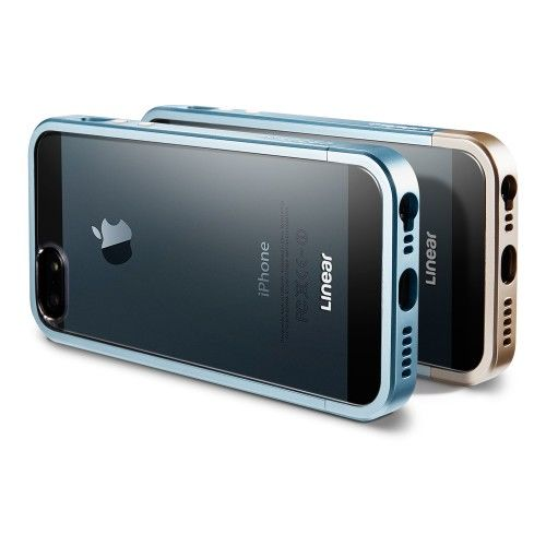 Чехол SGP Case Linear Metal Crystal Series Metal Blue for iPhone 5.5s - Фото 2
