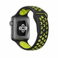 Ремешок Silicone with Black/Volt Nike for Apple Watch 38/40/42/44mm, Цена: 612 грн, Фото