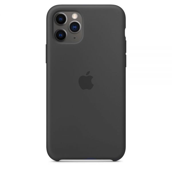 Силиконовый чехол Apple iPhone 11 Pro Max Silicone Case OEM Black - Фото 1