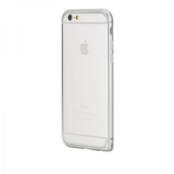 Бампер Rock Arc Edge Ultra thin Aluminum Metal  iPhone 6. iPhone 6 plus - Silver - Фото 1