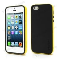 SPIGEN SGP Neo Premium TPU   PC Hybrid Cover Case for iPhone 4.4s.5 - Black / Yellow, Цена: 275 грн, Фото