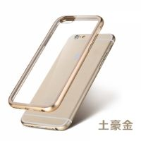 ROCK Ultrathin Aircraft Aluminium Bumper Case with Crystal back for iPhone 6 4.7 - Gold, Цена: 477 грн, Фото