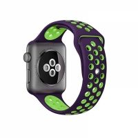 Ремешок Silicone with Violet/Green Nike for Apple Watch 38/40/42/44mm, Цена: 612 грн, Фото