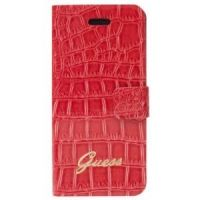 Кожаный чехол Guess Flip Case Horizontal Croco Mat for iPhone 5.5s - Red, Цена: 538 грн, Фото