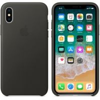 Чехол iPhone X/XS Leather Case - Charcoal Gray, Цена: 603 грн, Фото