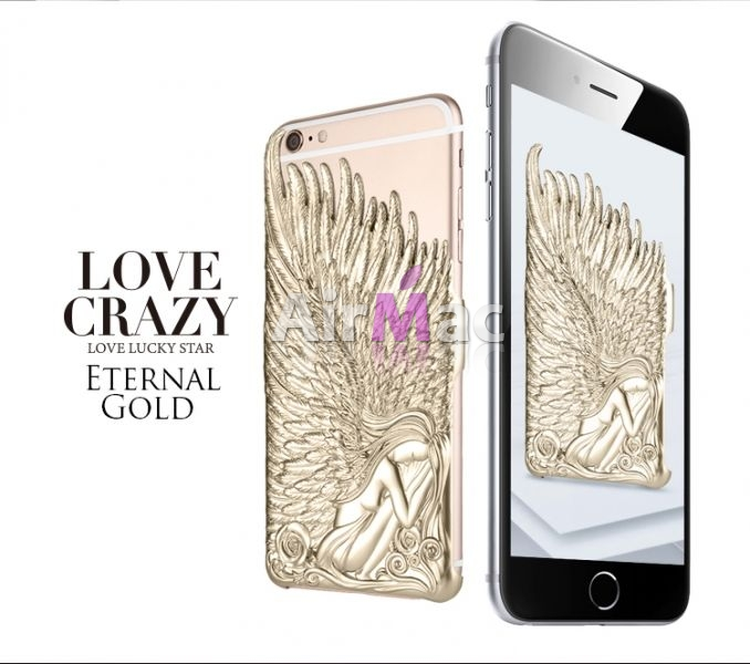 фото Чехол Love Crazy 3D Angel for iPhone 6. 6s  Gold