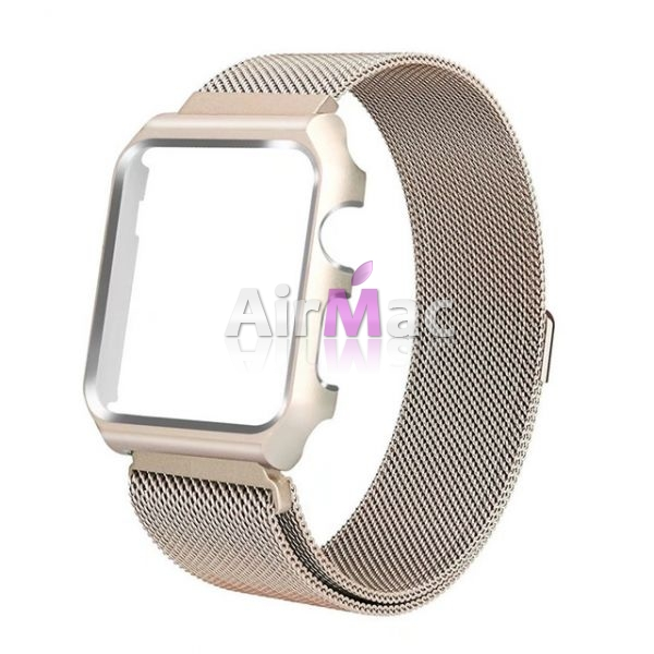 фото Чехол-браслет Apple Watch 38/42mm with Milanese Loop (magnetic) Gold