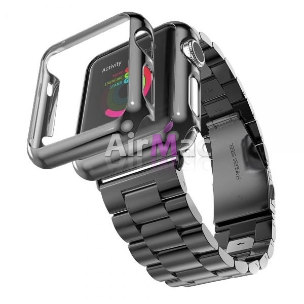 фото Браслет Steel Watch Band Black For Apple Watch 38/42mm   HOCO накладка