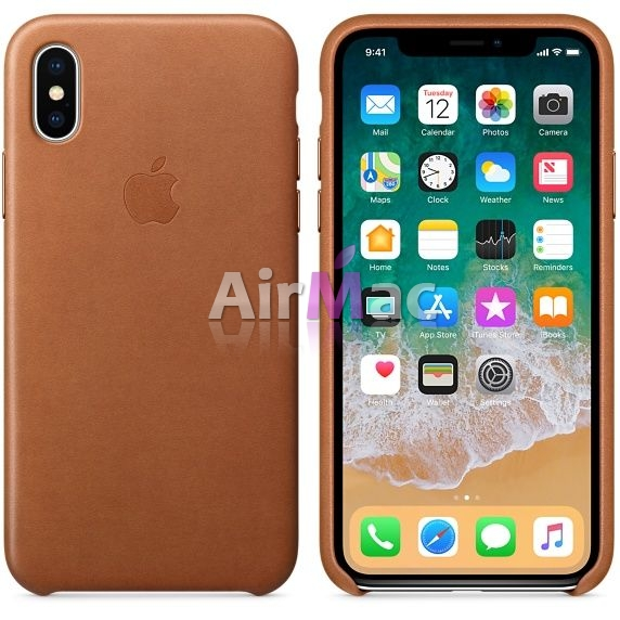 фото iPhone X Leather Case - Saddle Brown