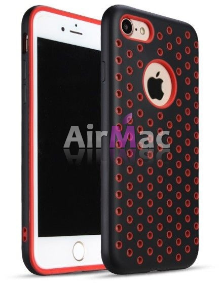 фото Чехол Silicone with Black/Red Nike for iPhone 7 / iPhone 7 Plus