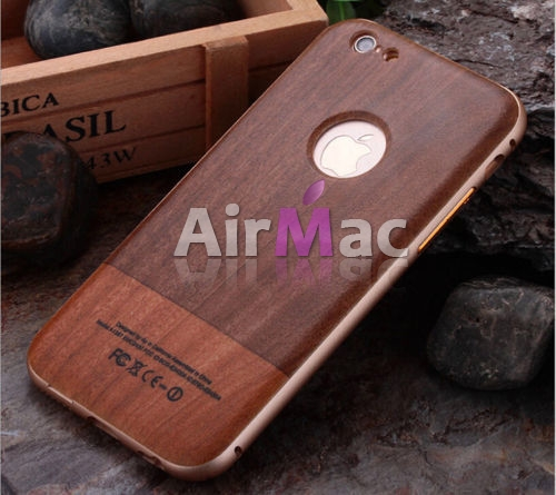 фото Чехол Wood Grain Pattern Cover Case Metal Frame Bumper For iPhone 6. 6s №3