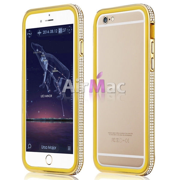 фото Фирменный бампер X-Fitted Bling Bumper Gold for iPhone 6. iPhone 6 plus