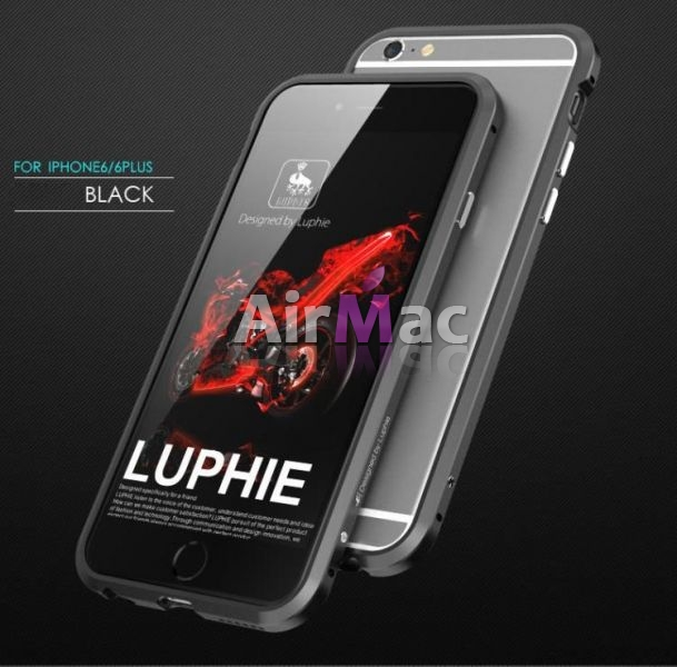 фото Бампер Luphie Ultra Luxury Black for iPhone 6.6s