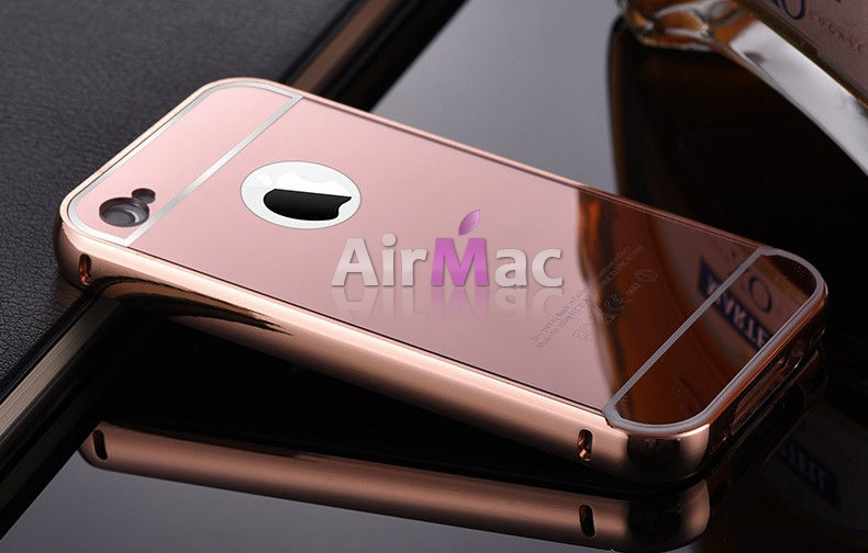 фото Чехол глянец Mirror Rose Gold case for iPhone 4.4s