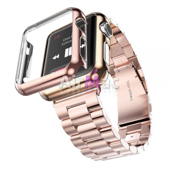 фото Браслет Steel Watch Band Rose Gold For Apple Watch 38/42mm   HOCO накладка