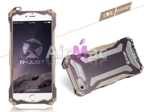 фото Бампер R-JUST Gundam Series Aluminum Metal Frame For iPhone 5.5s.6 Gold