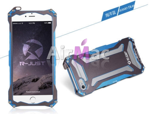фото Бампер R-JUST Gundam Series Aluminum Metal Frame For iPhone 5.5s.6 Blue