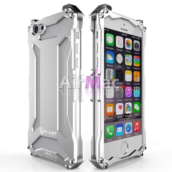 фото Бампер R-JUST Gundam Series Aluminum For iPhone 5.5s.6.6s Silver