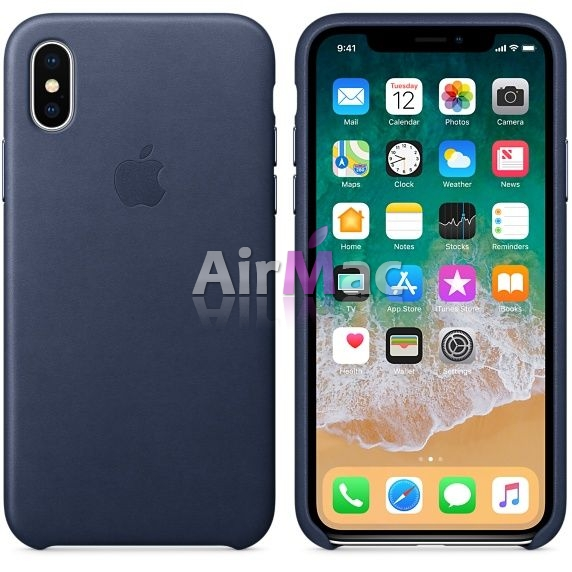 фото iPhone X/XS Leather Case - Midnight Blue