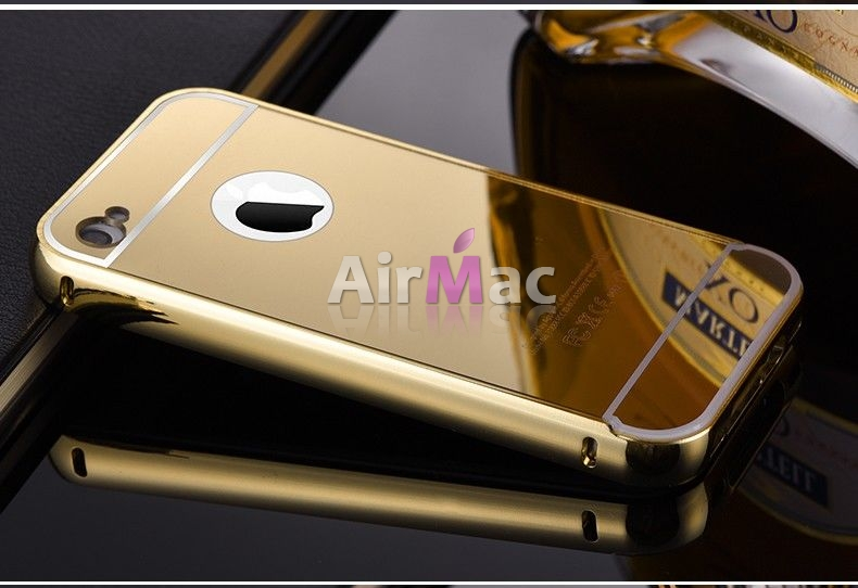 фото Чехол глянец Mirror Gold case for iPhone 4.4s