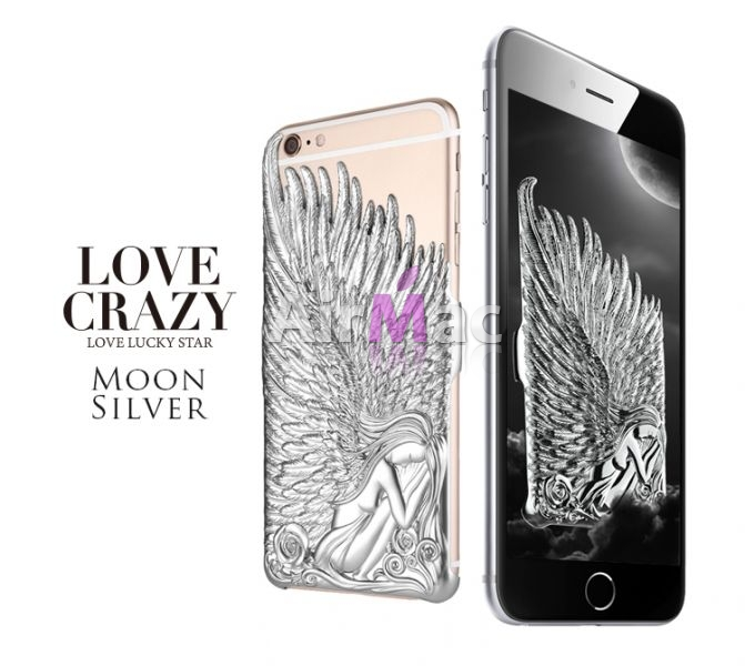 фото Чехол Love Crazy 3D Angel for iPhone 6. 6s  Silver