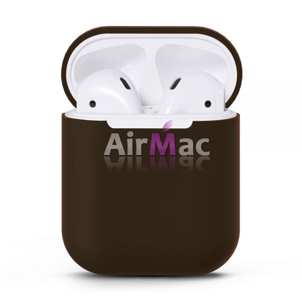 фото Чехол для AirPods silicone case Dark Brown