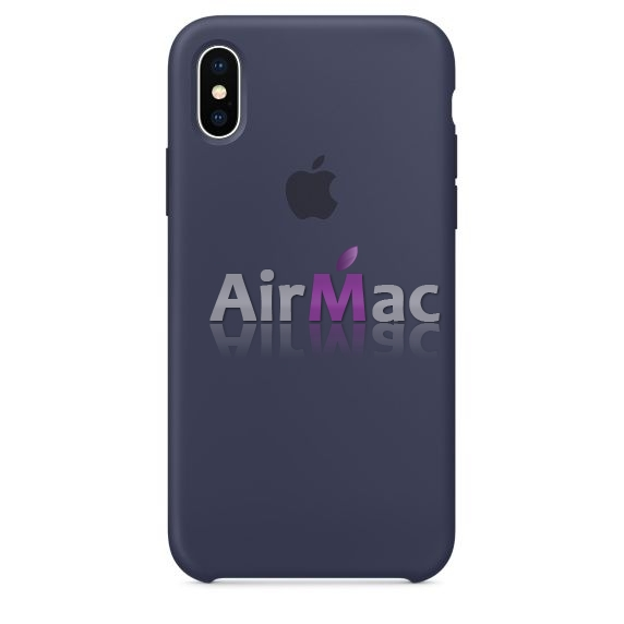 фото Силиконовый чехол Apple Silicone Case Midnight Blue для iPhone X / iPhone 10