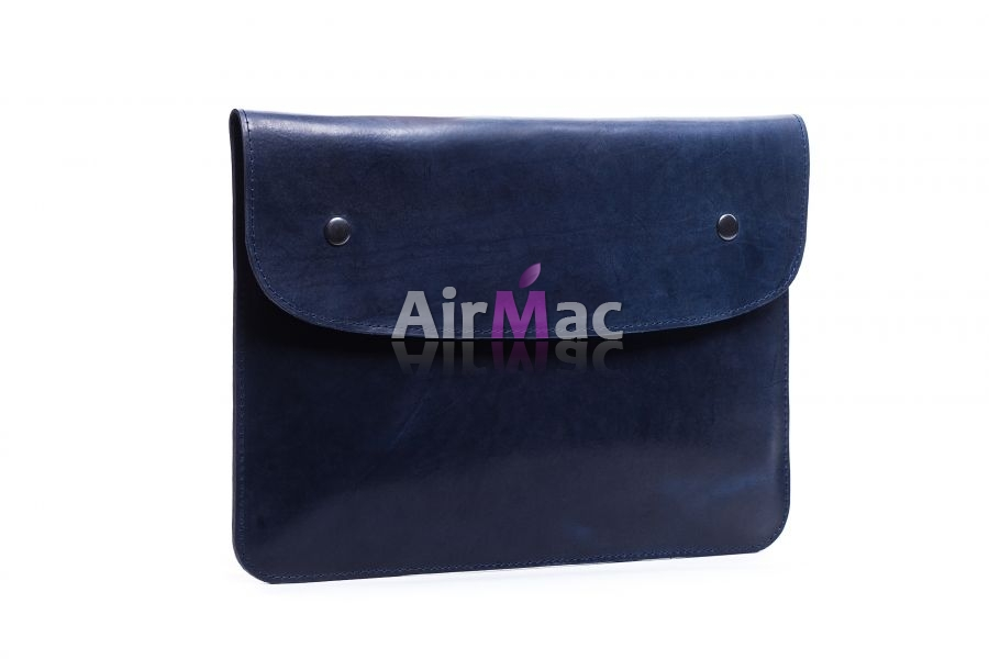 фото Чехол кожаный Blue для MacBook air 13.3 pro 13 Retina (HandMade) Exclusive