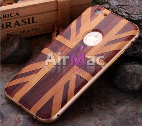 фото Чехол Wood Grain Pattern Cover Case Metal Frame Bumper For iPhone 6. 6s №1