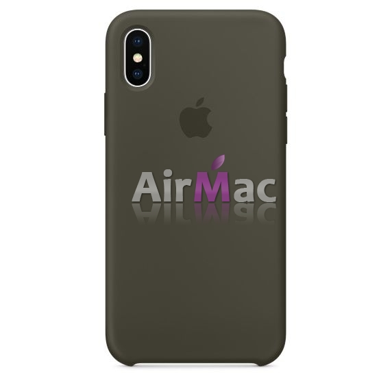 фото Силиконовый чехол Apple Silicone Case Dark Olive для iPhone X / iPhone 10