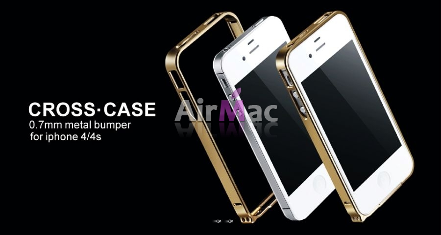 фото Бампер Cross-Line Aluminum Ultrathin 0.7мм Champagne iPhone 4.4s оригинал