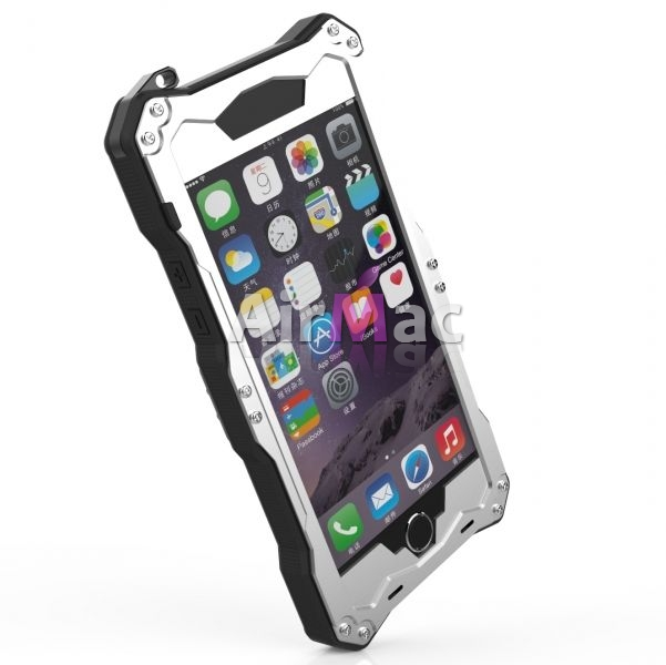 фото Бампер R-Just Gundam Waterproof for iPhone 6.6s. 6 plus/ s Silver