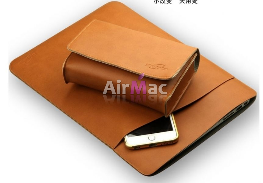 фото Чехол for MacBook air 13.3 & pro 13 retina Brown   чехол для зарядки