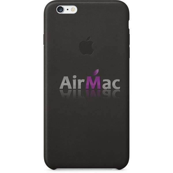 фото Кожаный чехол Apple Leather Case Black для iPhone 6 Plus
